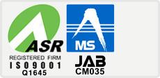 JIS登録番号JSAQ2128、JAB認定番号R001取得